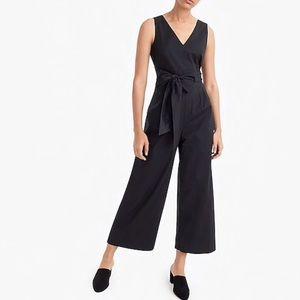 J CREW | Cotton Cropped Wide Leg Cutout Jumpsuit